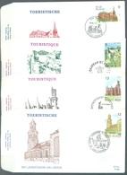 BELGIUM - 24.6.1989 - FDC - TOURISME - COB 2328-2331 RODAN 899-902 - Lot 19634 - 1981-90