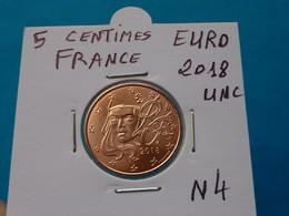 5 CENTIMES EURO FRANCE 2018 Unc  ( Sous étui H B - 3 Photos  ) - Francia