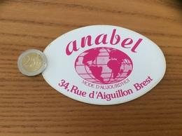 AUTOCOLLANT, Sticker «anabel - MODE D'AUJOURD'HUI - BREST (29)» (vêtement) - Autocollants