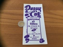 AUTOCOLLANT, Sticker «PUSSY CAT - Habille Garçons Et Filles - BREST (29)» (vêtement) - Autocollants