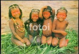 PHOTO POSTCARD BRASIL BRAZIL NUE NUDE CHILDREN ENFANT AMAZONIA CARTE POSTALE - Ethnics