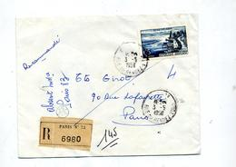 Lettre Recommandee Paris 73 Sur Evian - Postmark Collection (Covers)