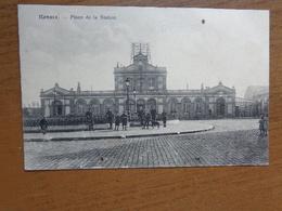 Feldpost / Ronse - Renaix: Place De La Station --> Beschreven 1916 - Renaix - Ronse