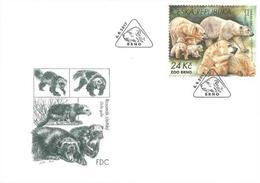 FDC 938 Czech Republic Zoological Gardens II 2017 Polar Bear Wolwerine - Osos