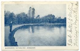 LONDON : WIMBLEDON - QUEENSMERE (BATHING END) / ADDRESS - BERKAMSTED, HERTS - London Suburbs