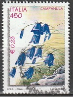Italia 2001 - Lire 450 - € 0,23 - Campanula - 6. 1946-.. Repubblica