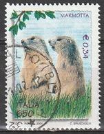 Italia 2001 - Lire 650 - € 0,34 - Marmotta - 6. 1946-.. Repubblica