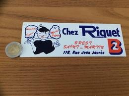 AUTOCOLLANT, Sticker «CHEZ RIQUET - BREST (29)» (vêtement) - Autocollants