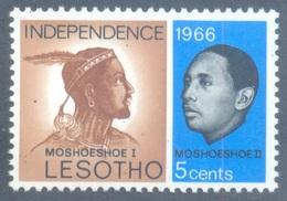 Second   Stamp Of LESOTHO 1966 SG / Scott # 2 Mint - Rare - Postal History - Lesotho (1966-...)