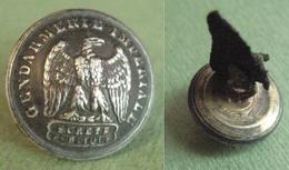 GENDARMERIE IMPERIALE Rare Bouton Uniforme Napoléon III Empire 17 Mm - Bottoni