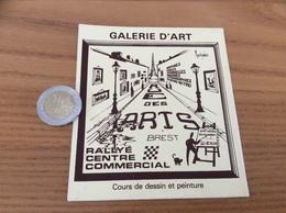 AUTOCOLLANT, Sticker «GALERIE D'ART - RUE DES ARTS - BREST (29)» (illustration Marchadour) - Autocollants