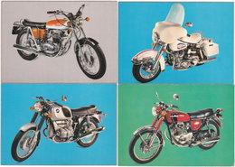 Gf. LES PLUS BELLES MOTOS DU MONDE. 4  Cartes N° 1 à 4 - Motorbikes