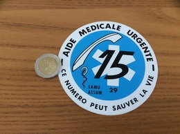 AUTOCOLLANT, Sticker «15 AIDE MEDICALE URGENTE - SAMU - ASSUM - Finistère (29)» - Autocollants