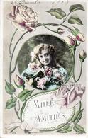 FRANCE-MILLE AMITIES-VIAGGIATA 1908 - Auguri - Feste