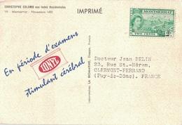CROISIERE - PLASMARINE 1955 - IONYL - CHRISTOPHE COLOMB AUX INDES OCCIDENTALES - MONTSERRAT. - Montserrat