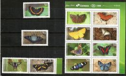Papillons Du Brésil, Bloc-feuillet + Timbres Neufs **, Année 2016 - Butterflies