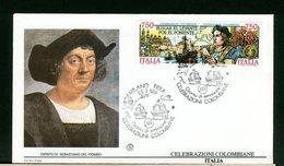 ITALIA - FDC FILAGRANO 1991  - CRISTOFORO COLOMBO - CARAVELLE - Cristoforo Colombo