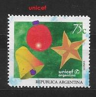ARGENTINA 1994 Christmas - UNICEF Children's Fund In Argentina      Ø - Oblitérés