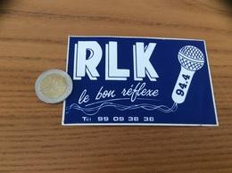 AUTOCOLLANT, Sticker «RLK 94.4» (radio Le Relecq-Kerhuon 29) - Autocollants