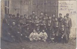 Carte Photo Militaires 1906 Souvenir Des Grèves De Pont Saint Vincent - France
