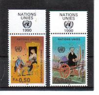 VV379 VEREINTE NATIONEN UNO GENF 1990 Michl 190/91 Mit TABS ** Postfrisch  ZÄHNUNG SIEHE ABBILDUNG - Ungebraucht