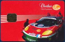 OBERTHUR PRESENTATION DEMO CHIP PHONECARD TELECARTE SPORT RALLY CAR AUTO PERFECT - Telefoonkaarten