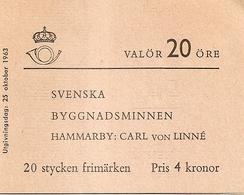 SWEDEN, 1962, Booklet 159 (Facit), Mi 511,  Estate Carl V Linné - Booklets