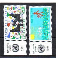 VV371 VEREINTE NATIONEN UNO GENF 1991 Michl 202/03 Mit TABS ** Postfrisch  ZÄHNUNG SIEHE ABBILDUNG - Genf - Büro Der Vereinten Nationen