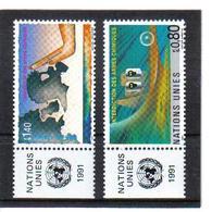 VV372 VEREINTE NATIONEN UNO GENF 1991 Michl 204/05 Mit TABS ** Postfrisch  ZÄHNUNG SIEHE ABBILDUNG - Ungebraucht