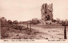 YPRES-LES HALLES AUX DRAPS EN 1919 - Ieper