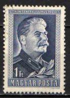 UNGHERIA - 1949 - 70° ANNIVERSARIO DI STALIN - USATO - Ungheria