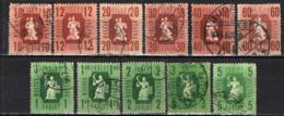UNGHERIA - 1946 - SIMBOLI DELL'INDUSTRIA E DELL'AGRICOLTURA - USATI - Ungheria