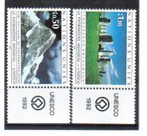 VV373 VEREINTE NATIONEN UNO GENF 1992 Michl 210/11 Mit TABS ** Postfrisch  ZÄHNUNG SIEHE ABBILDUNG - Genf - Büro Der Vereinten Nationen