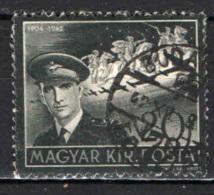 UNGHERIA - 1942 - MORTE DEL VICE REGGENTE - USATO - Ungheria