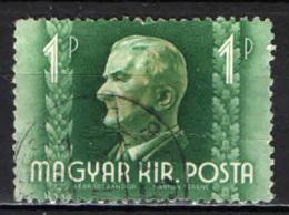 UNGHERIA - 1941 - AMMIRAGLIO NICHOLAS HORTY - USATO - Ungheria