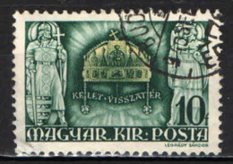 UNGHERIA - 1940 - RIANNESSIONE DELLA TRANSILVANIA - USATO - Ungheria