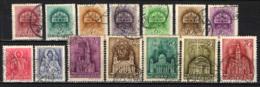 UNGHERIA - 1939 - LA SANTA CORONA DELL'UNGHERIA, RE SANTO STEFANO, LA SANTA VERGINE, CHIESE E BASILICHE - USATI - Ungheria