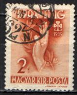 UNGHERIA - 1939 - FESTA DELL'ORGANIZZAZIONE FEMMINILE DEGLI SCOUTS - USATO - Ungheria