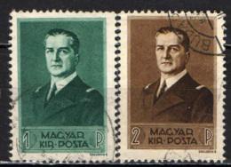 UNGHERIA - 1938 - 70° ANNIVERSARIO DELL'AMMIRAGLIO MIKLOS HORTHY - USATI - Ungheria