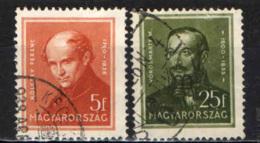 UNGHERIA - 1936 - PERSONALITA' - USATI - Ungheria
