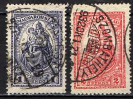 UNGHERIA - 1925 - MADONNA CON BAMBINO - USATI - Ungheria