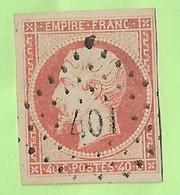 N 16 Napoléon Lauré 40 C Rouge Brun 1870 Oblitéré Losange Etat Voir Scan - 1863-1870 Napoléon III Lauré