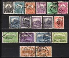 UNGHERIA - 1925 - CORONA DI SANTO STEFANO E CATTEDRALE DI SAN MATTIA - USATI - Ungheria