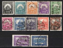 UNGHERIA - 1925 - CORONA DI SANTO STEFANO E CATTEDRALE DI SAN MATTIA - USATI - Used Stamps