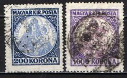 UNGHERIA - 1921 - MADONNA CON BAMBINO - USATI - Ungheria