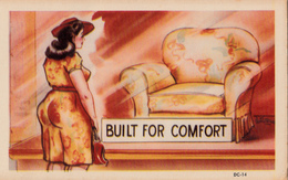 Comics Humor Comic Comique Humour - Fat Ass Sexy Lady Looking For Comfort - No. DC-14 - 2 Scans - Humour