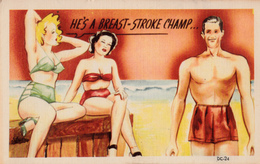Comics Humor Comic Comique Humour - Sexy Lady And Sexy Man On Beach - No. DC-34 - 2 Scans - Humour
