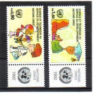 VV375 VEREINTE NATIONEN UNO GENF 1992 Michl 221/22 Mit TABS ** Postfrisch  ZÄHNUNG SIEHE ABBILDUNG - Ungebraucht