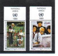 VV376 VEREINTE NATIONEN UNO GENF 1993 Michl 225/26 Mit TABS ** Postfrisch  ZÄHNUNG SIEHE ABBILDUNG - Genf - Büro Der Vereinten Nationen