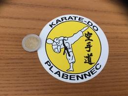 AUTOCOLLANT, Sticker «KARATE - DO - PLABENNEC (29) » - Autocollants